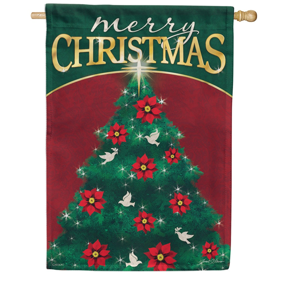 Peace Tree Double Sided House Flag