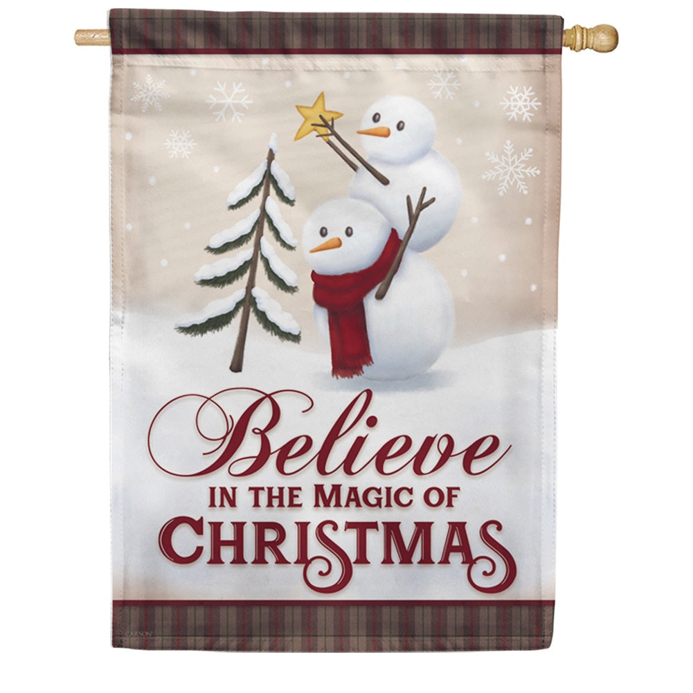 Believe In The Magic Double Sided House Flag
