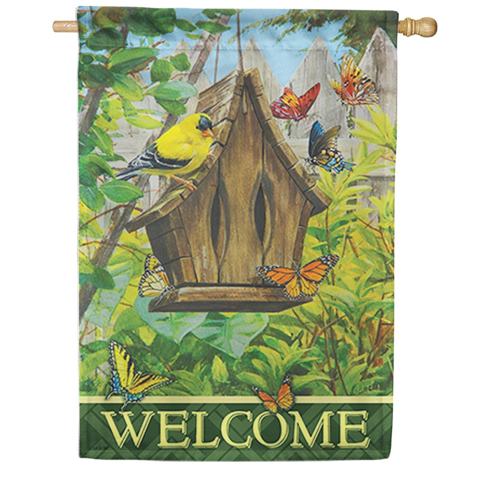 Butterfly Bed & Breakfast Double Sided House Flag