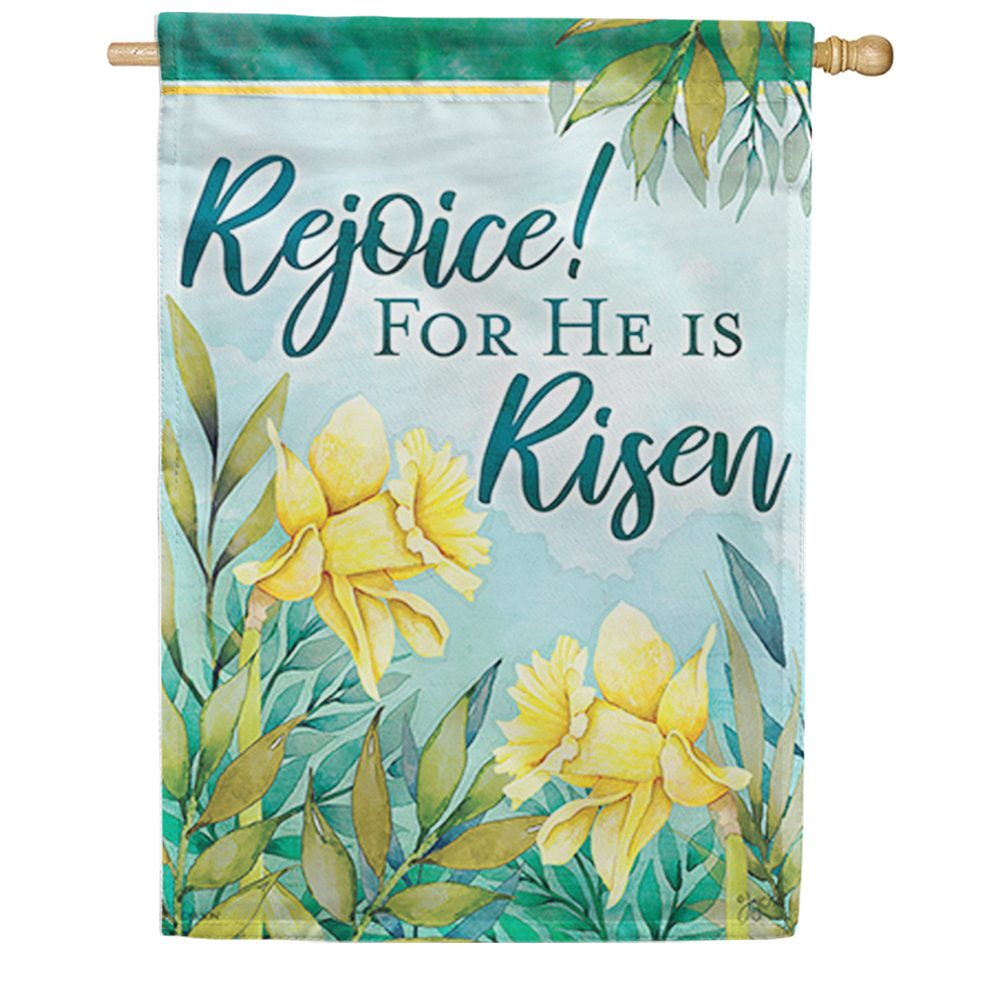 Signs Of Spring Double Sided House Flag