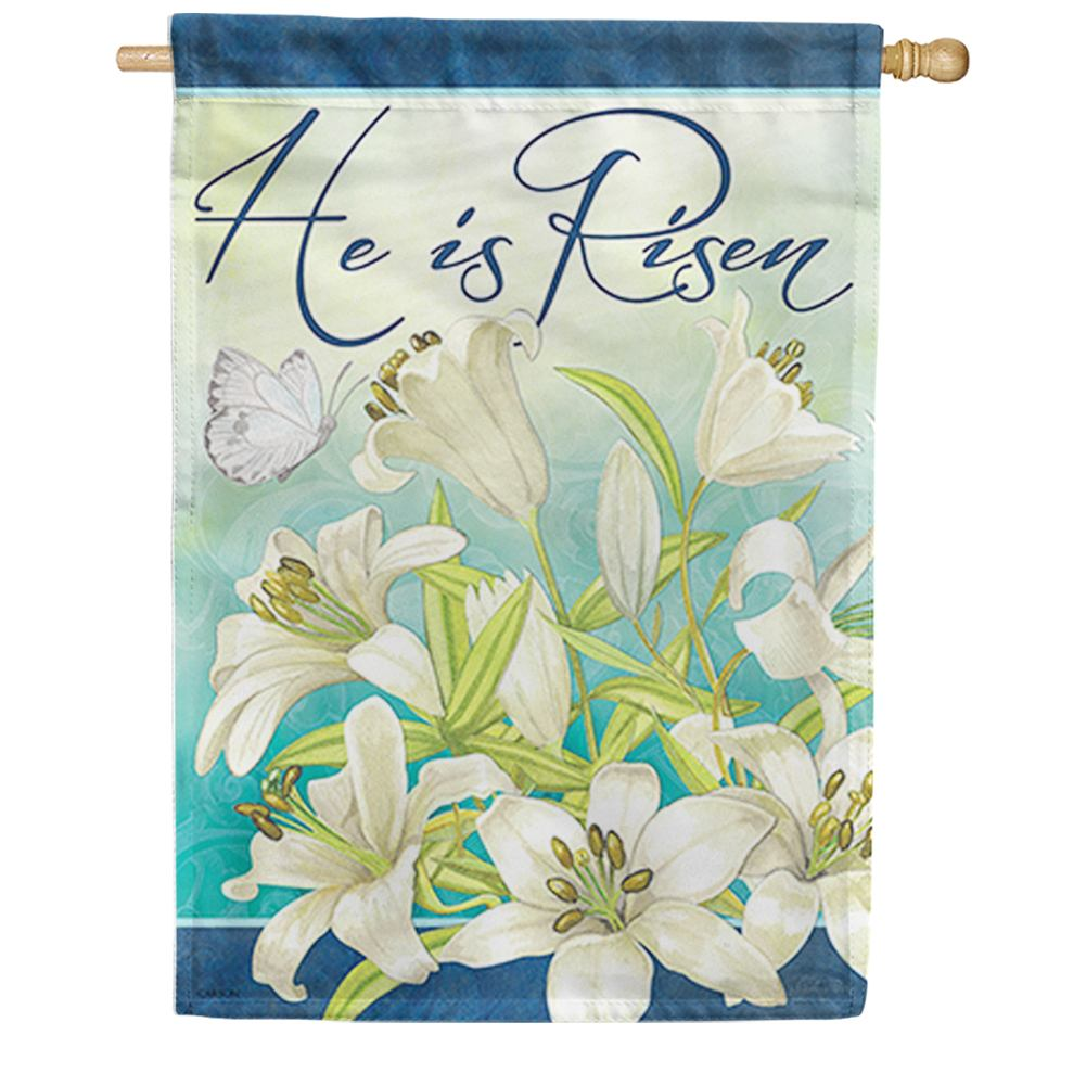 Blooming Lilies Double Sided House Flag