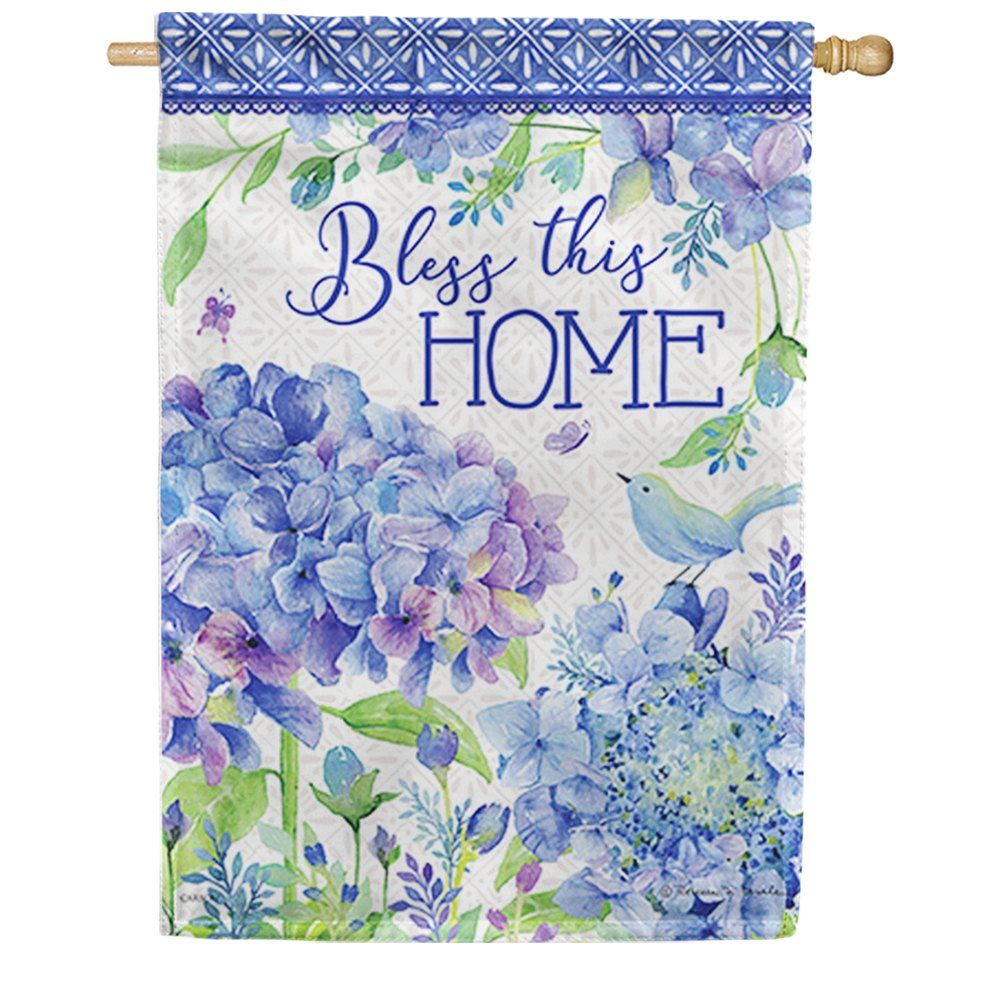 Petals & Patterns Double Sided House Flag