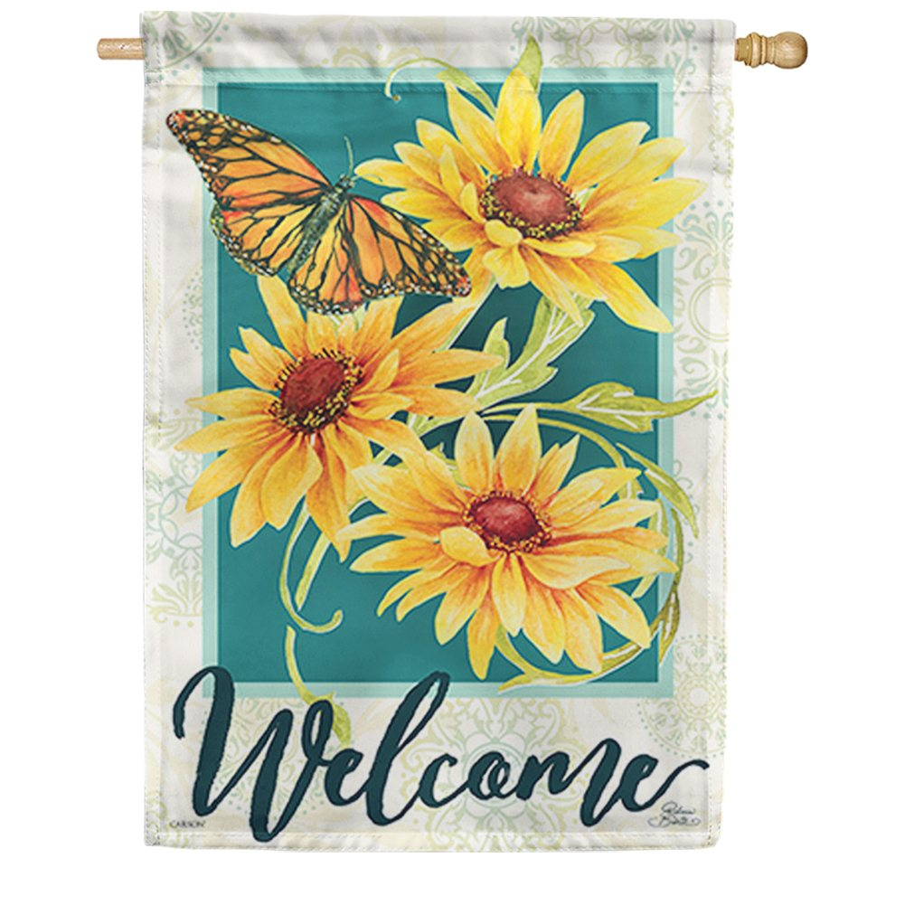 Sundrenched Blossoms Double Sided House Flag