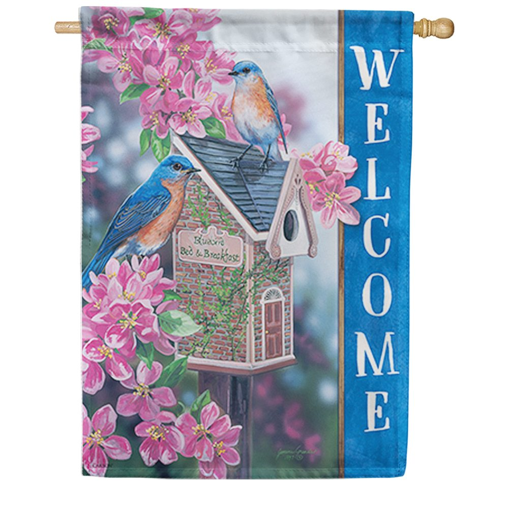 Bluebird Bed & Breakfast Double Sided House Flag