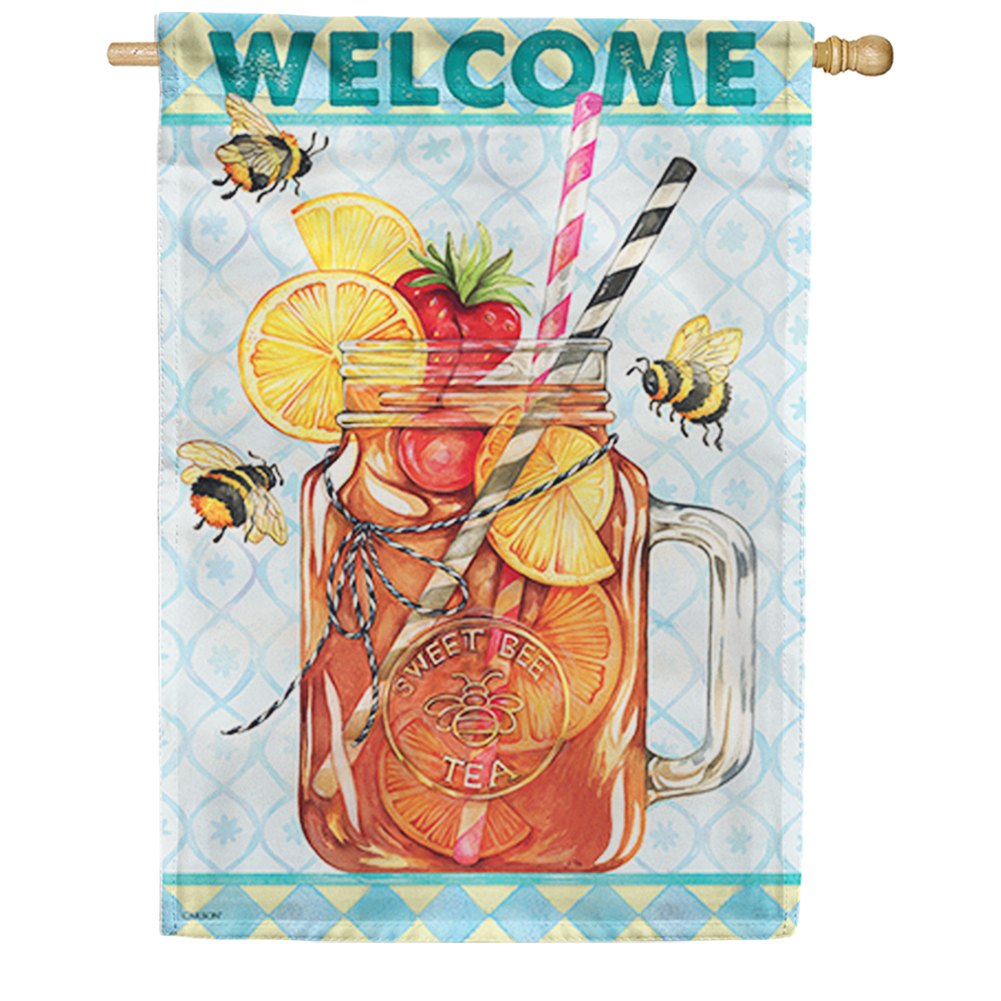 Sweet Tea Bee Double Sided House Flag