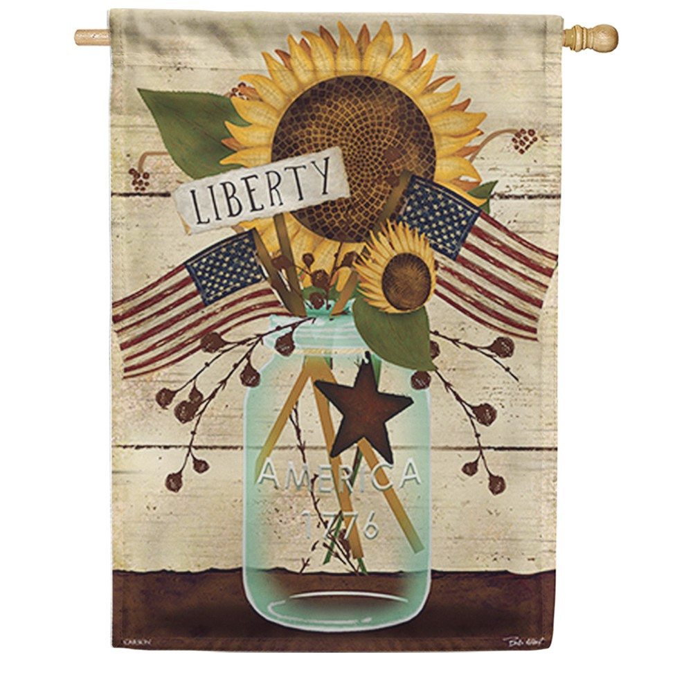 Liberty Mason Jar Double Sided House Flag
