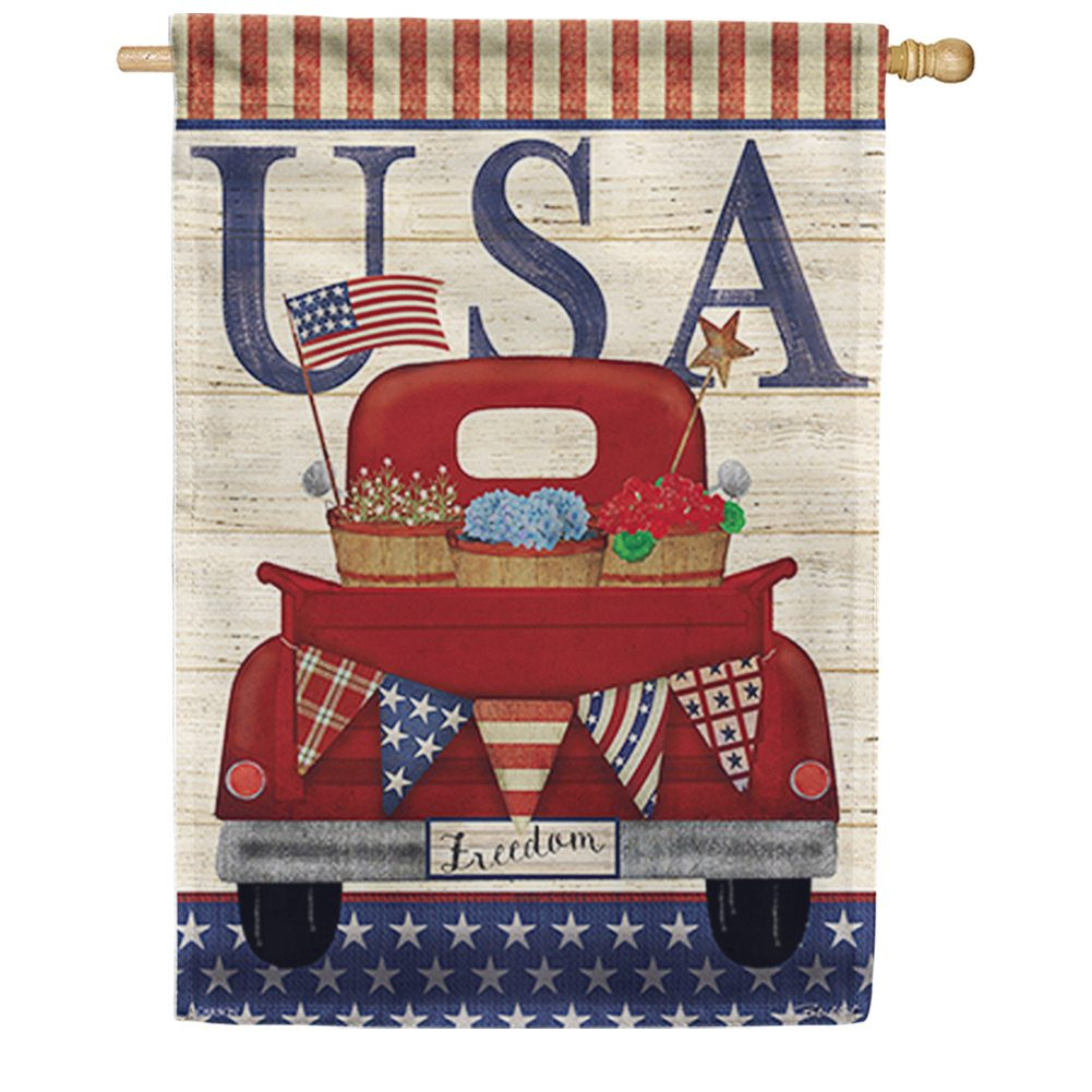 Freedom Truck Double Sided House Flag