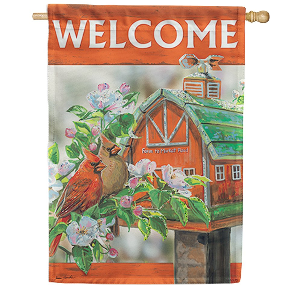 Farm to Market Cardinals Double Sided House Flag