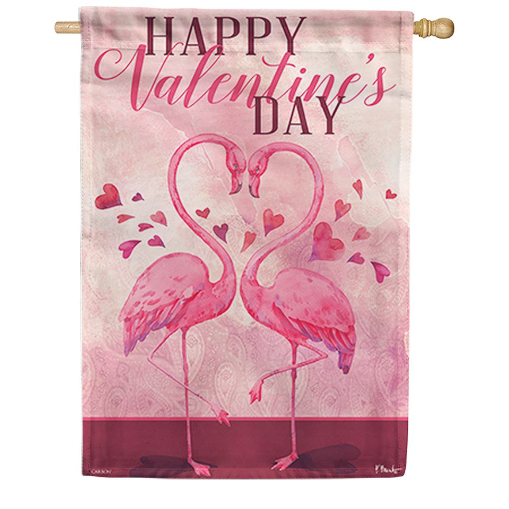 Flamingo Love Double Sided House Flag