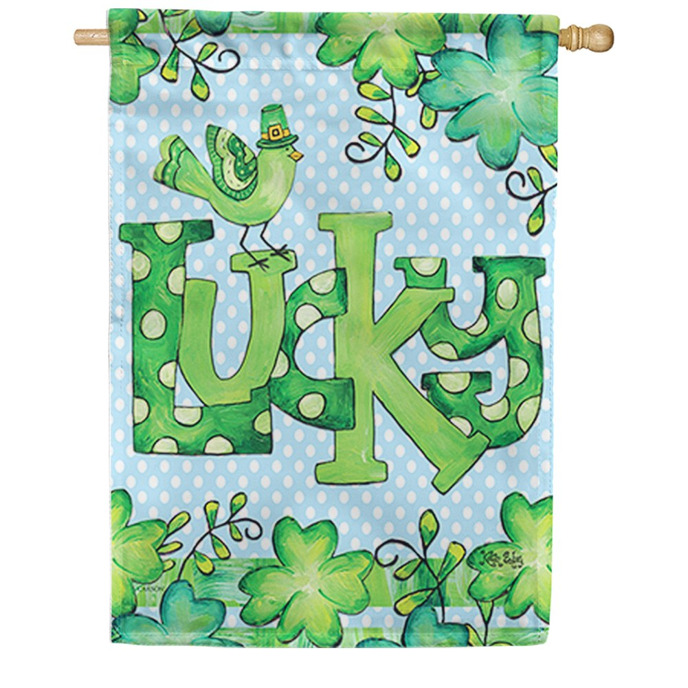 Feeling Lucky Double Sided House Flag