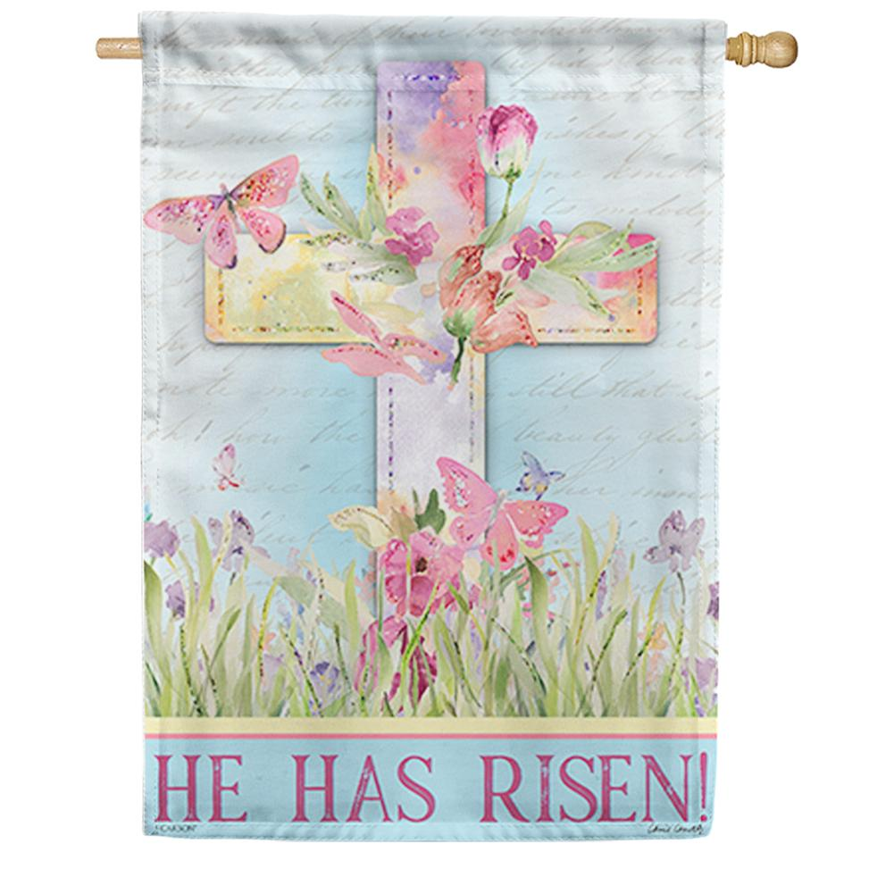 Watercolor Sunrise Double Sided House Flag