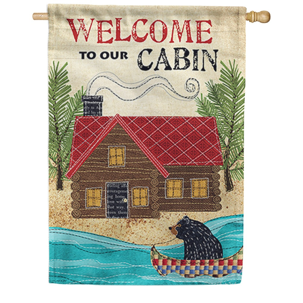 Our Cabin Double Sided House Flag