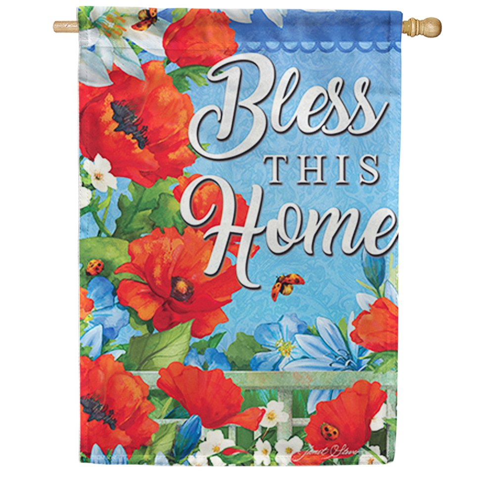 Colorful Garden Double Sided House Flag