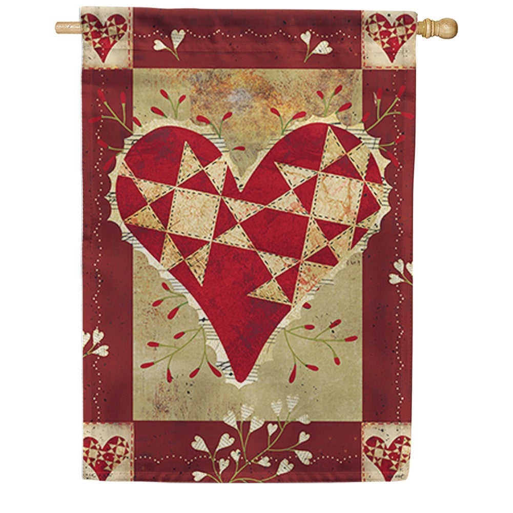 Primitive Love Double Sided House Flag