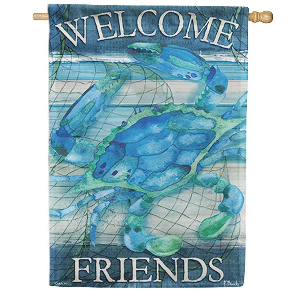 Blue Crab Double Sided House Flag