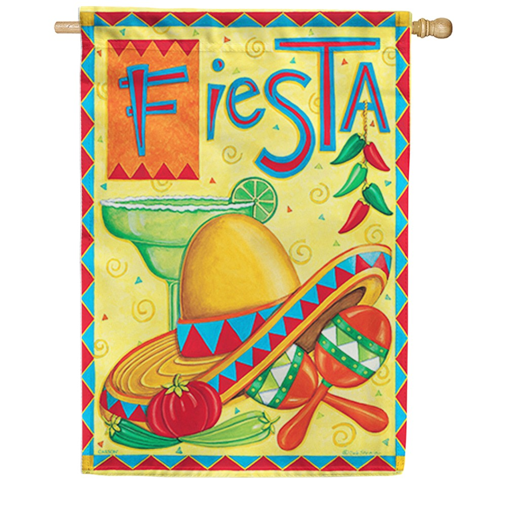 Fiesta Party Double Sided House Flag