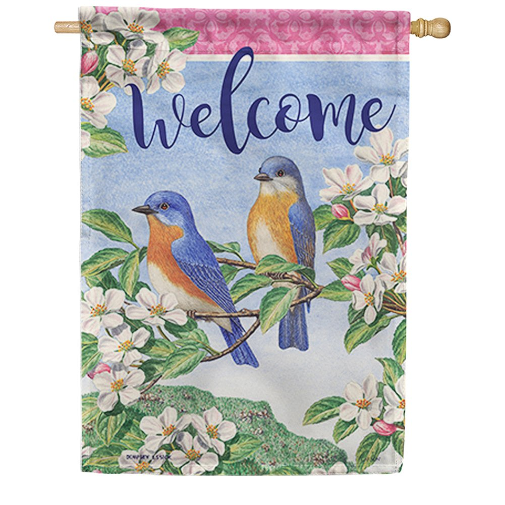 Bluebird Pair Double Sided House Flag