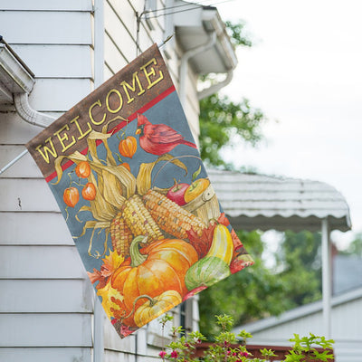 Garden Harvest House Flag