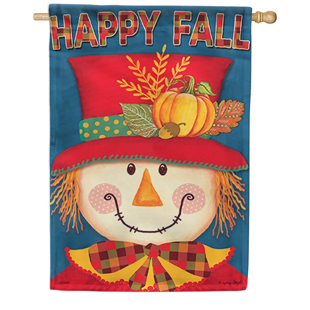 Bright Scarecrow House Flag