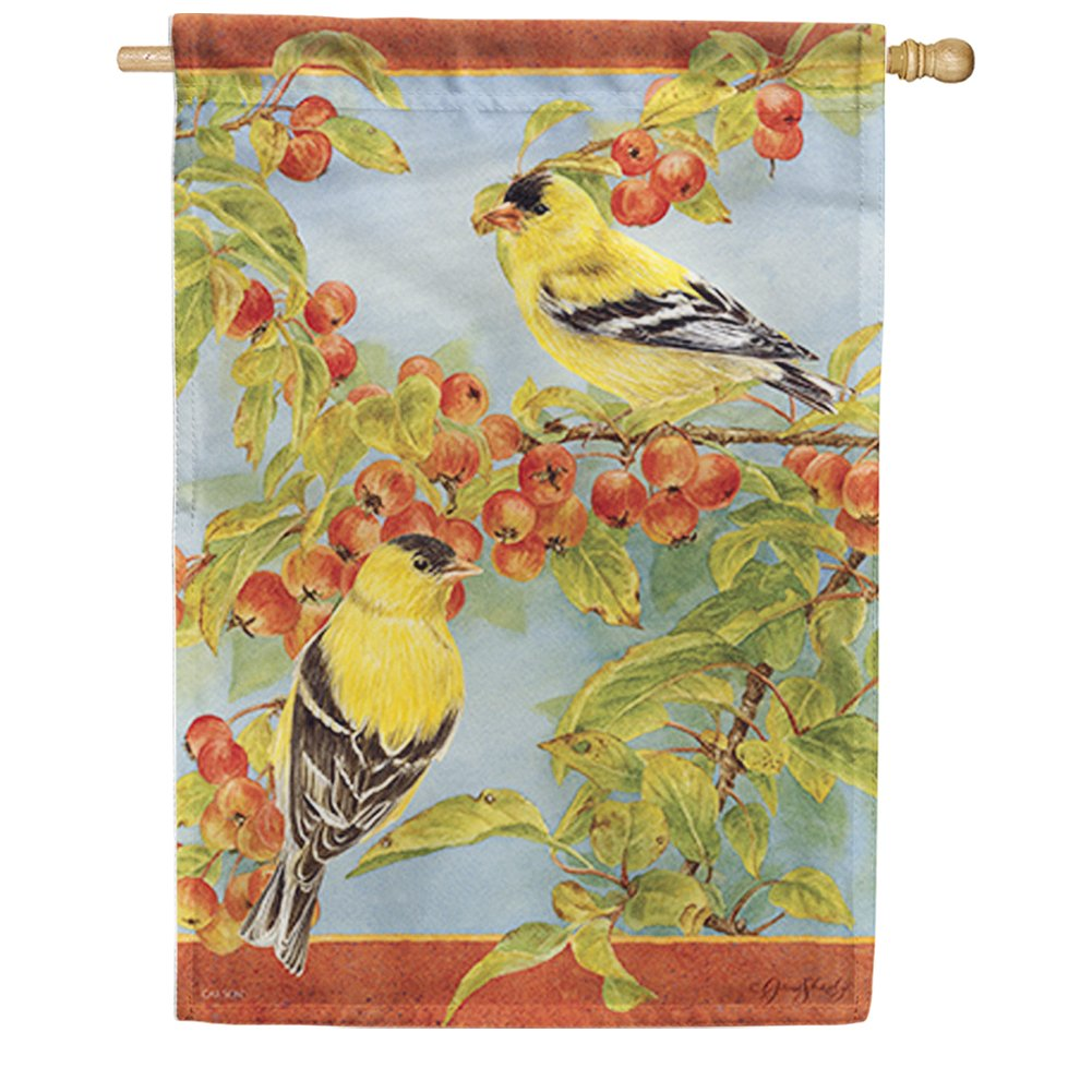 Crabapple & Finches House Flag