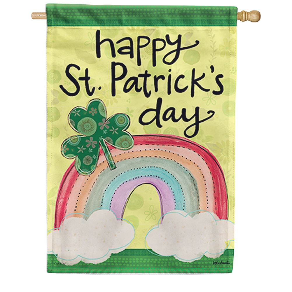St. Pat's Patterns Dura Soft Double Sided House Flag