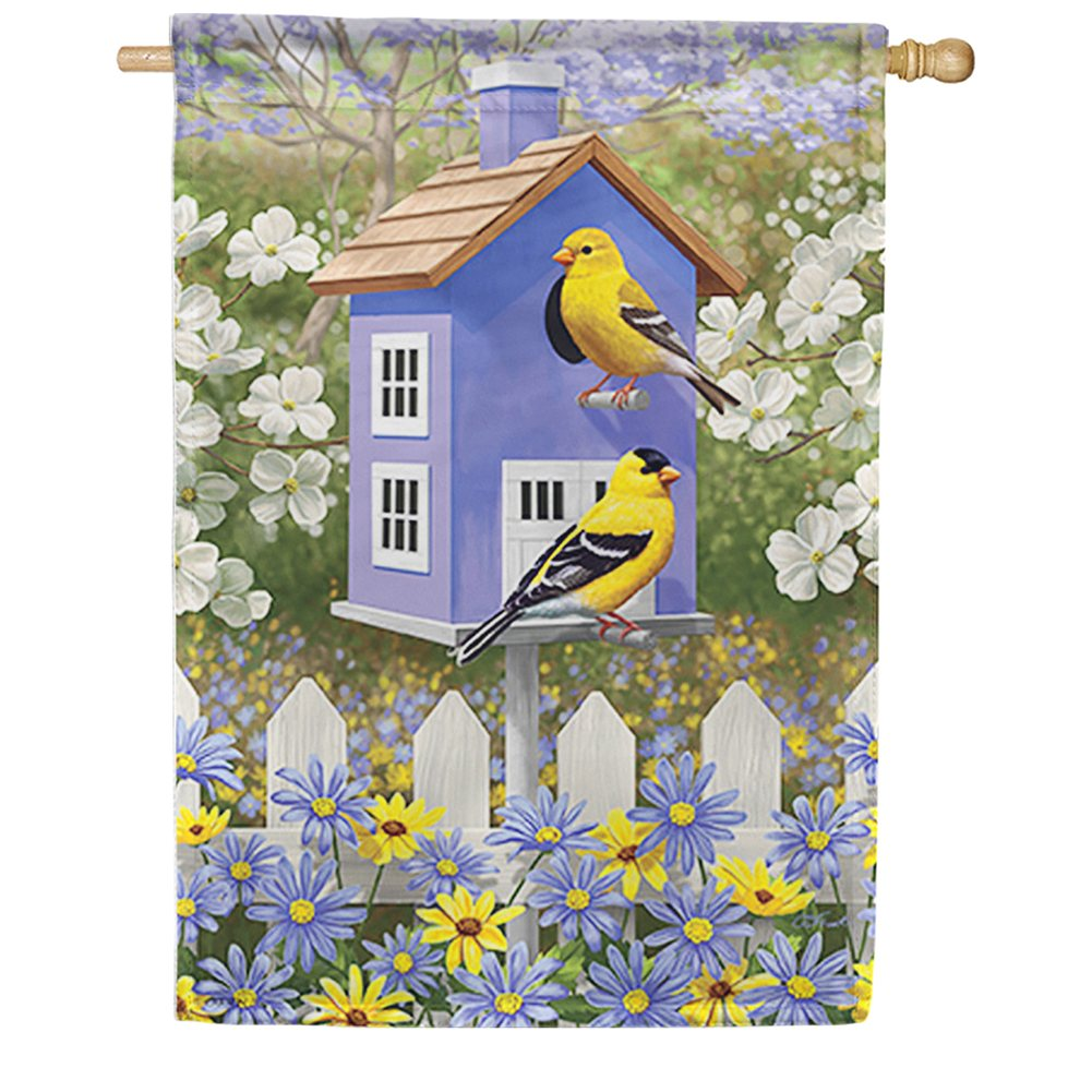Pop of Gold Dura Soft Double Sided House Flag