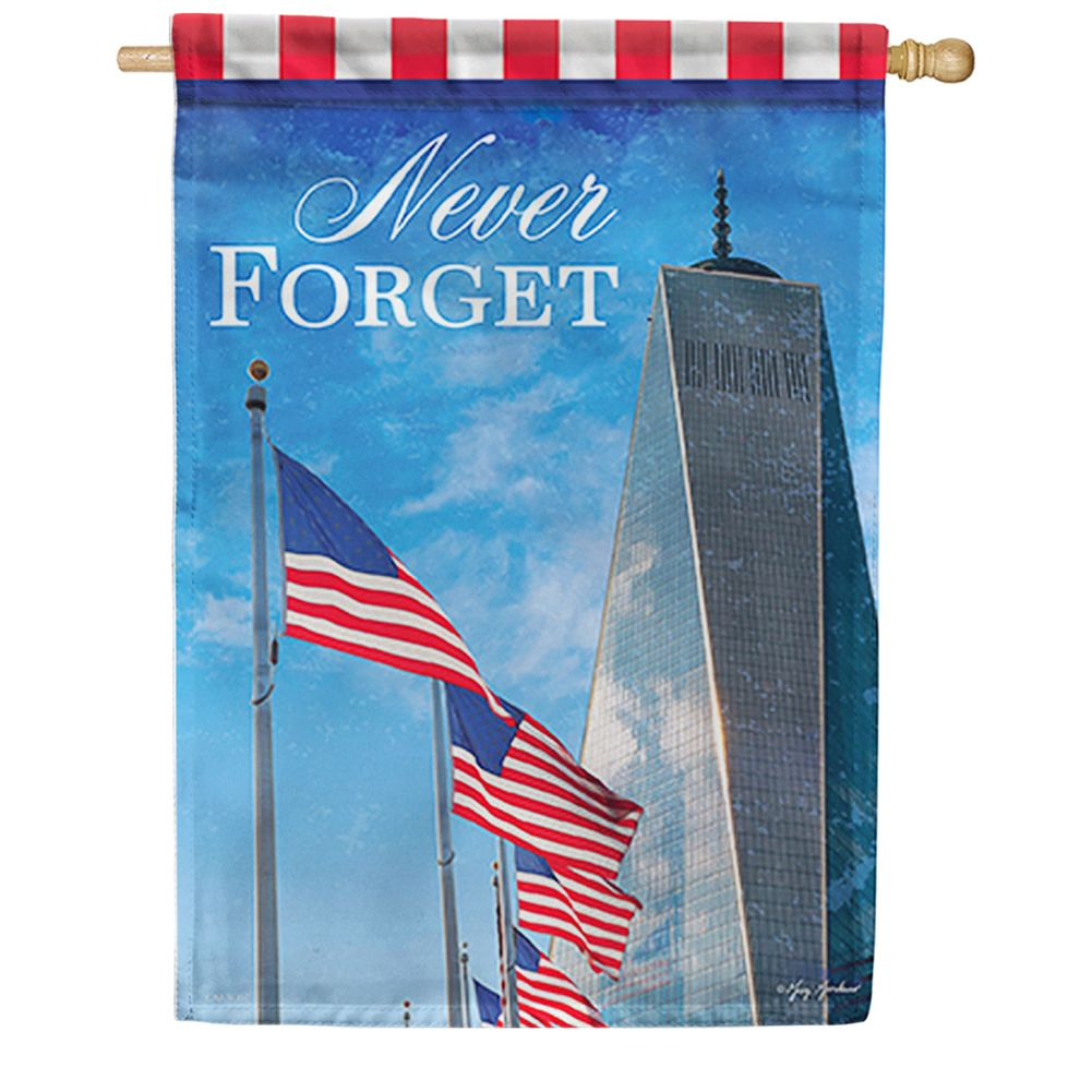 Freedom Tower Dura Soft Double Sided House Flag