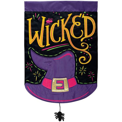 Wicked Appliqued Double Sided Garden Flag