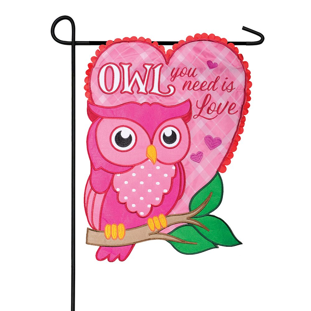 Owl You Need Appliqued Double Sided Garden Flag