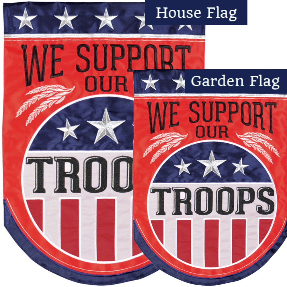 Troop Support Double Appliqued Flags Set (2 Pieces)