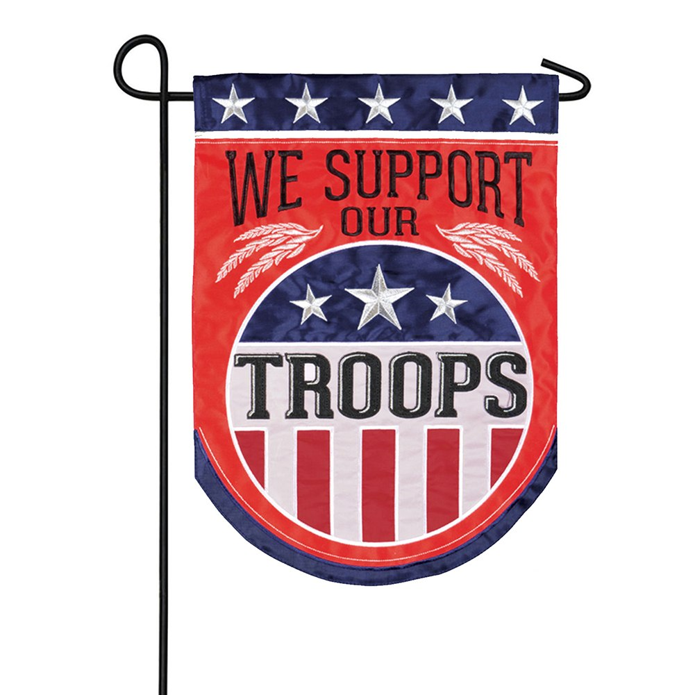Troop Support Double Appliqued Garden Flag