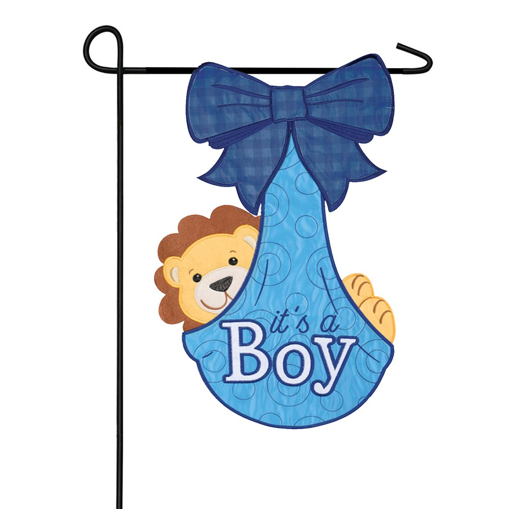 It'S A Boy Appliqued Double Sided Garden Flag