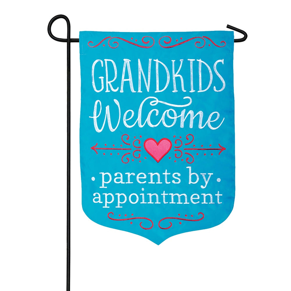 Parents by Appointment Appliqued Double Sided Garden Flag