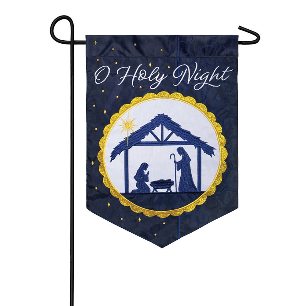 Divine Night Double Appliqued Garden Flag
