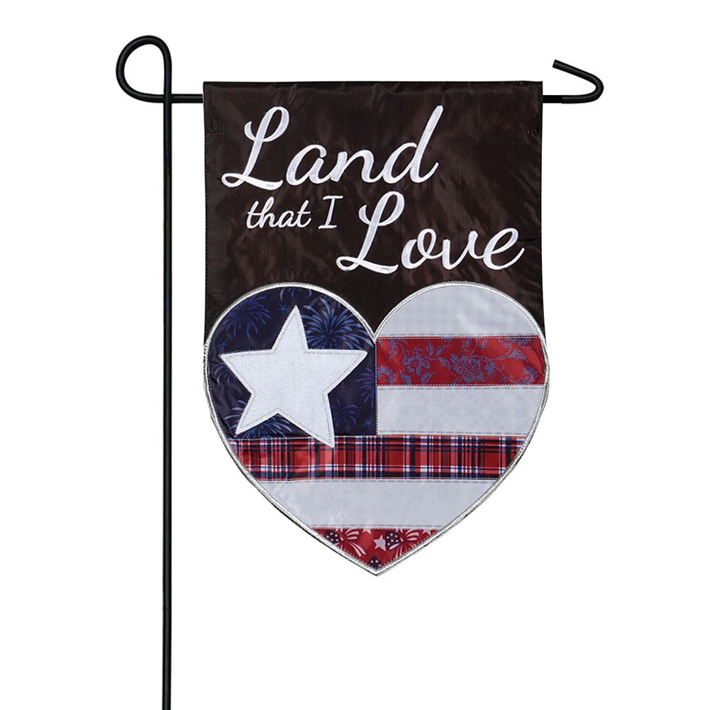 Land I Love Appliqued Garden Flag