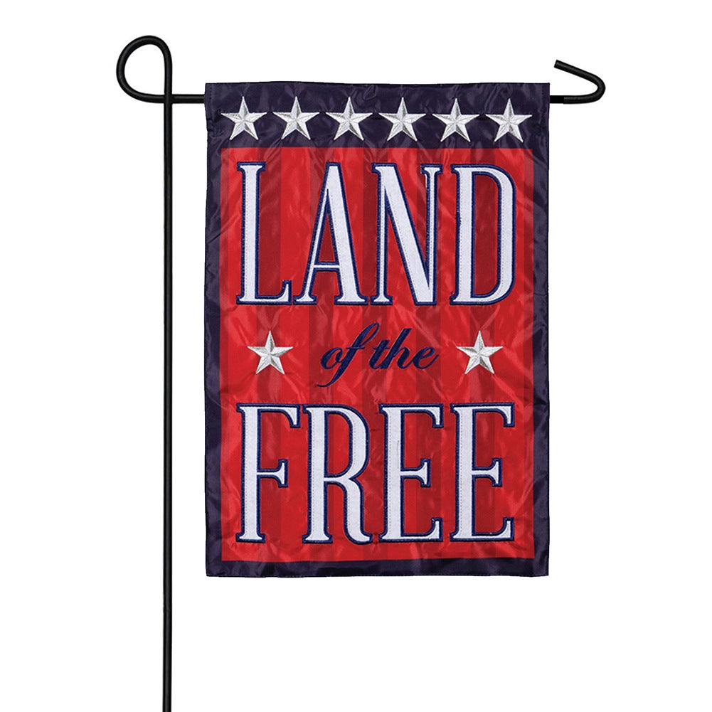 Land of the Free Appliqued Garden Flag