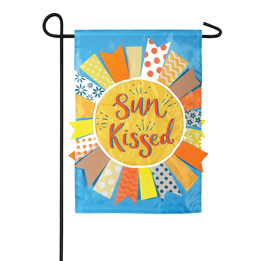 Sun Kissed Appliqued Garden Flag