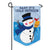 Cold Snowman Appliqued Garden Flag