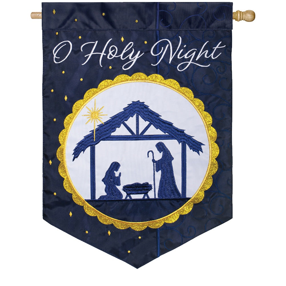 Divine Night Double Appliqued House Flag