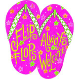 Flip Flops Welcome PVC Hang Around