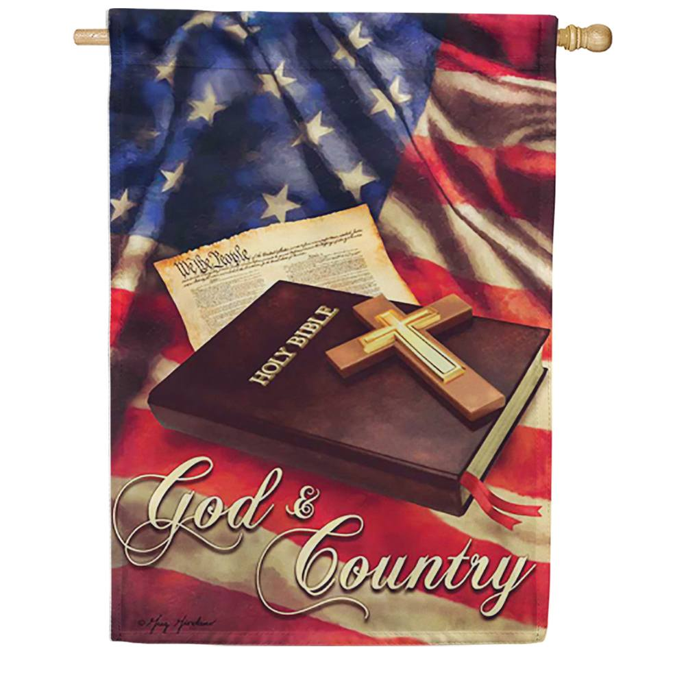 God And Country Double Sided House Flag