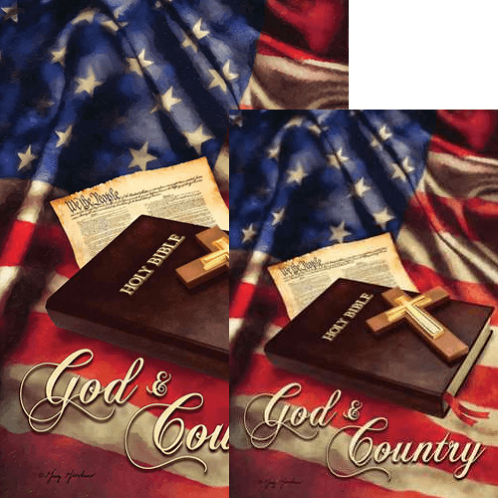 God And Country Double Sided Flags Set (2 Pieces)