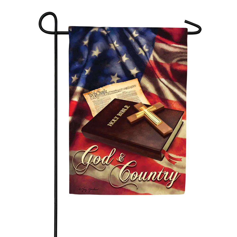 God And Country Double Sided Garden Flag