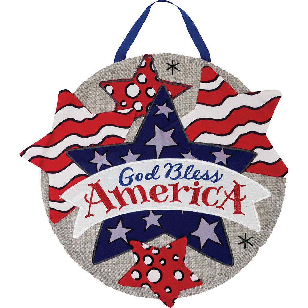 God Bless America FABRICreations Hang Around