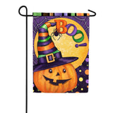 Boo Jack O'Lantern Double Sided Flag