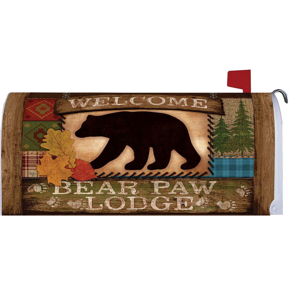 Welcome Bear Mailbox Cover
