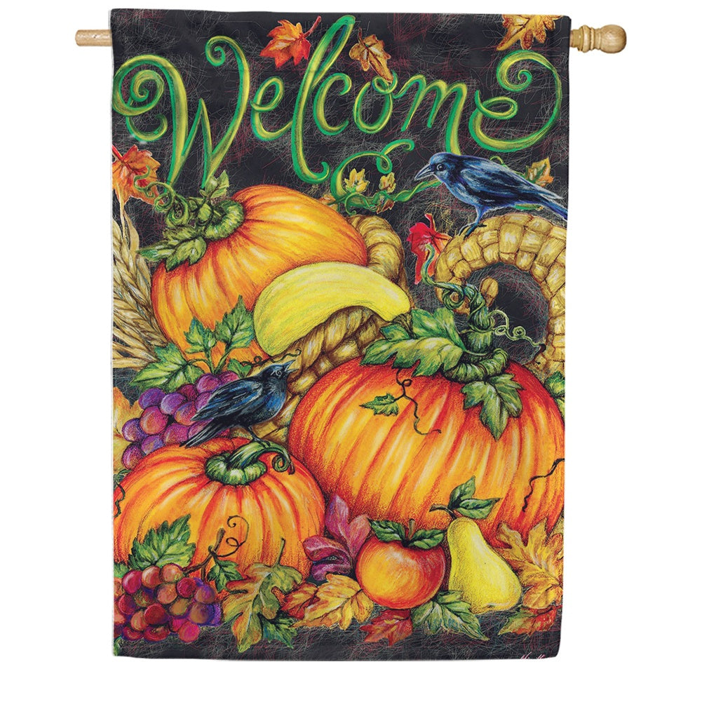 Harvest Welcome Double Sided House Flag