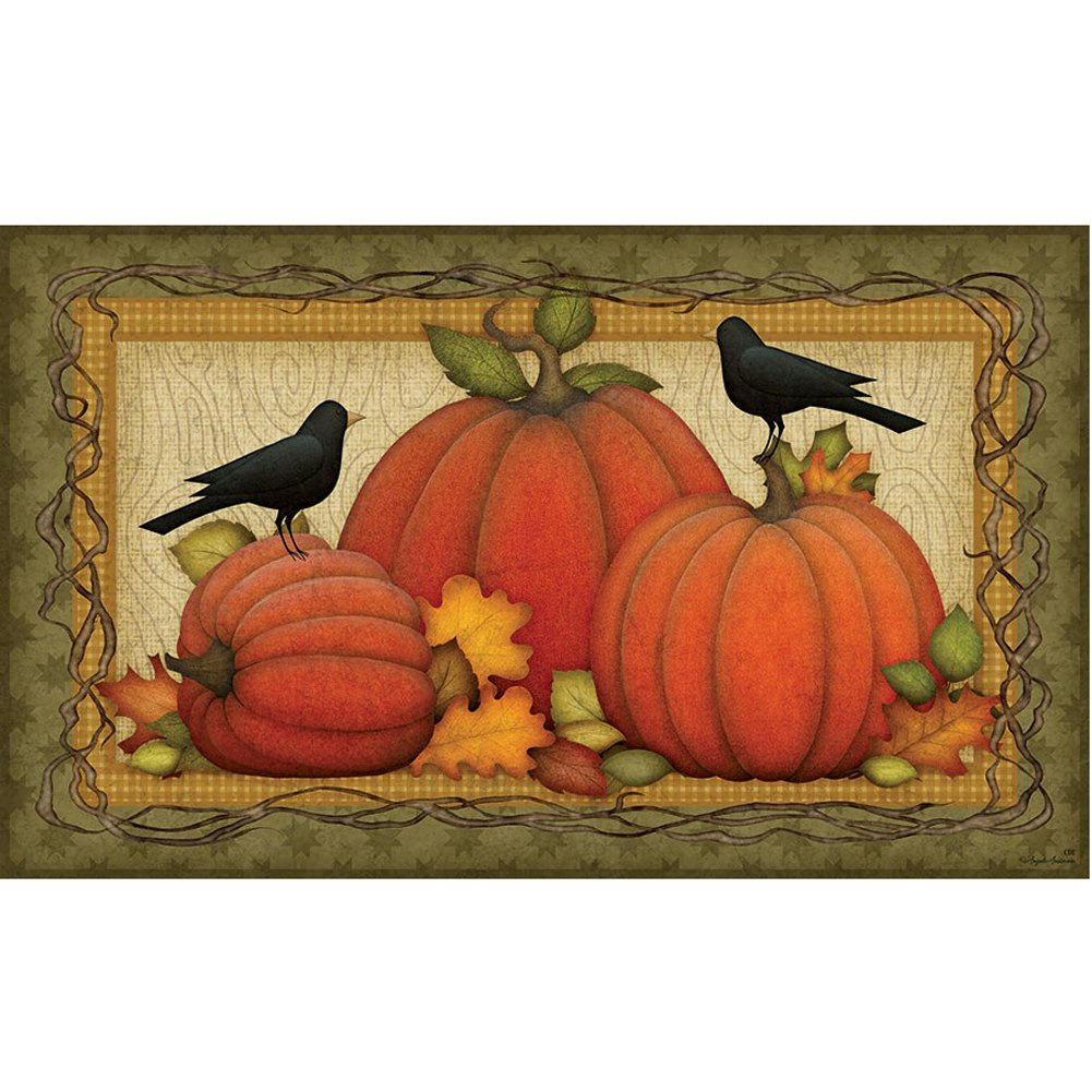Pumpkin Patch Crows Doormat