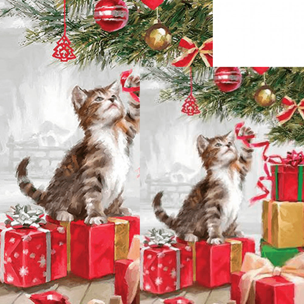 Christmas Kitten Flags Set (2 Pieces)