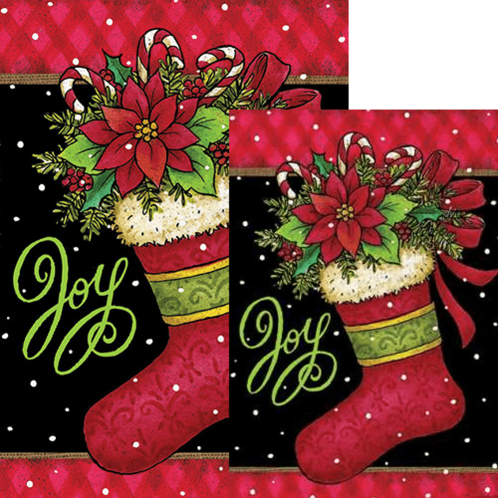 Joy Stocking Double Sided Flags Set (2 Pieces)